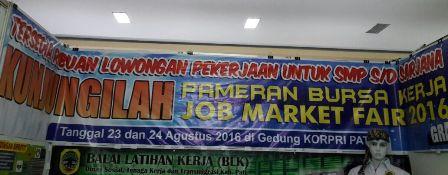 Belasan Ribu Pencari Kerja Berebut Loker Job Market Fair